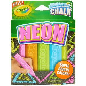 4/$25 NEON Rainbow Anti-Roll Sidewalk Chalk NEW